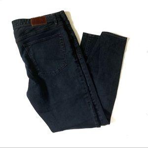Madewell Skinny Ankle Cut Black Denim Jeans